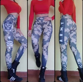 Leggin PUSH UP malla ARMY talla L