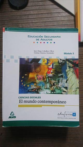 """Libro Ciencias sociales """"El mundo contemporáneo"""""""