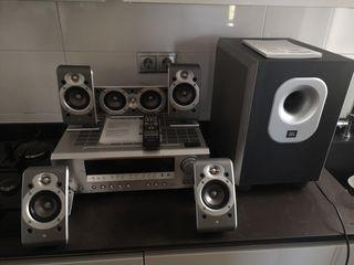 Amplificador home cinema onkyo y altavoces jbl