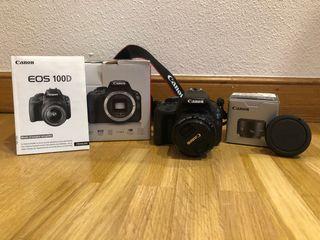 Se vende Canon EOS100D con Objetivo 50mm f/1,8 ||