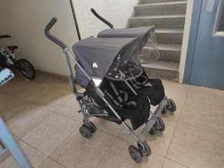 carro silla de paseo gemelar doble maclaren