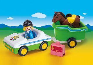 Playmobil Coche con Remolque de Caballo 70181