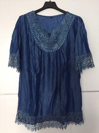 Blusón azul