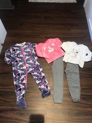 Lote de pijamas y mono para dormir 3-4 años