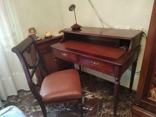 Escritorio clásico madera 100x60 cm