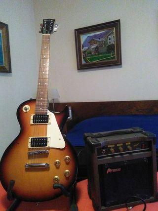 Guitarra electrica Academy con amplificador