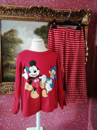 Pijama talla 6 años niño niña unisex rojo
