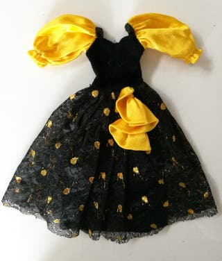 Vestido fiesta muñeca Darling modelo Sitges negro