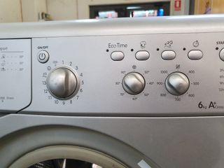 lavadora INDESIT gris inoxidable