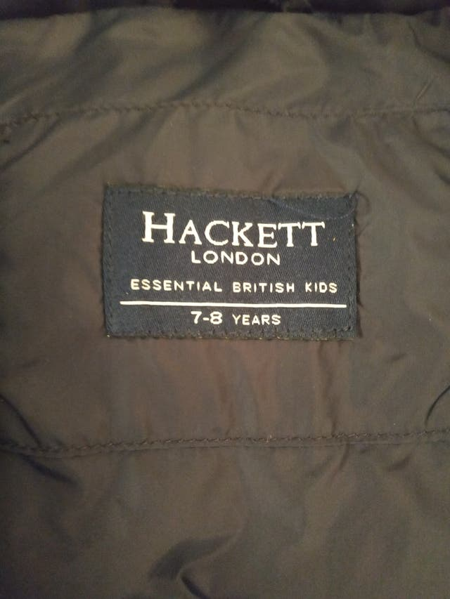 chaquetón sin mangas plumas Hackett