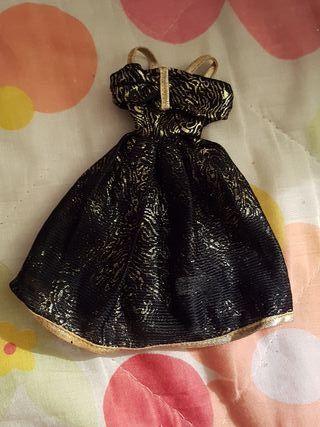 vestido de fiesta negro para muñeca barbie o simil