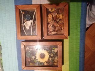 trio de marcos decorados.