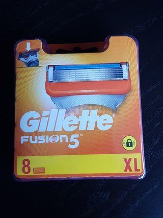 Cuchillas de afeitar - Gillette Fusión 5 (8 uds.)