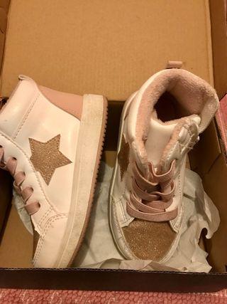 Bambas rosa pálido con estrella