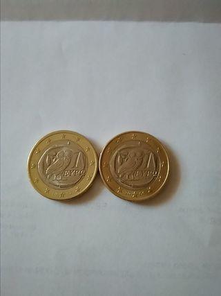 monedas griegas de euro de 2002 y 2006