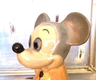 Porcelana vintage ratón Mickey Mouse