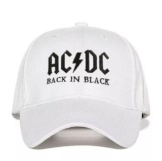 Gorra AC DC Blanca y Negra