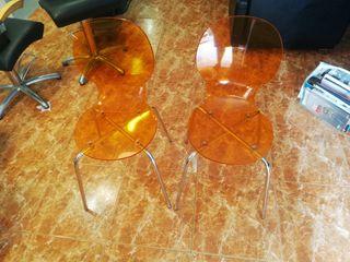 2 sillas de metraquilato