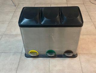 Cubo de basura inox reciclaje