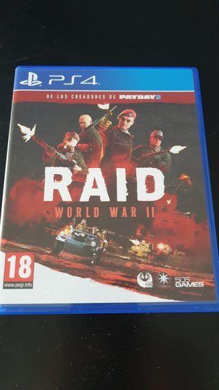 Raid world war II PS4