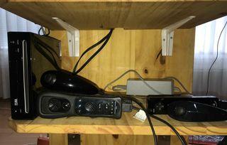 wii en negro + 2 mandos + plataf. balance + juegos