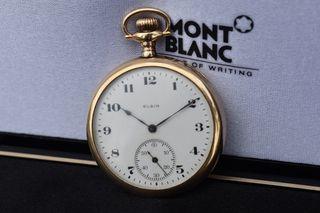 Reloj de bolsillo americano Elgin oro macizo 14k