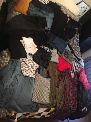 Gran paquete de ropa premama talla M