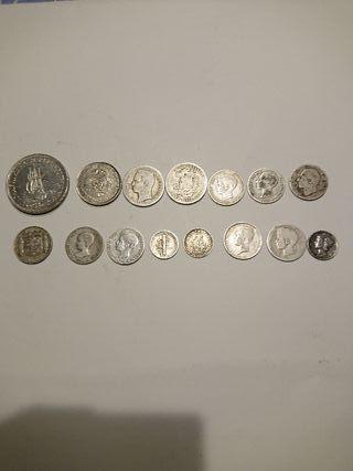 Lote monedas de plata