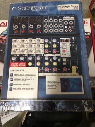 Soundcraft notepad 124 fx
