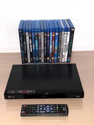 Pack Blu Ray 3D LG + peliculas