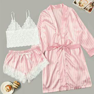 Pijama sexy + bata talla m