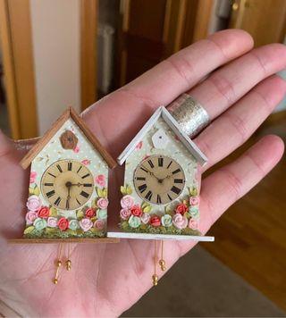 Reloj casa de muñecas escala 1:12. Miniatura