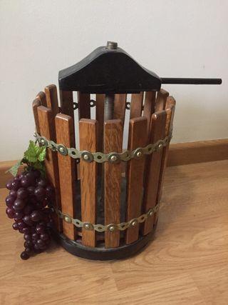 Decoración, prensa de vino