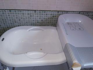 Bañera y cambiador para ponerla sobre bañera