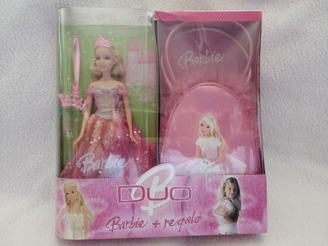 barbie pack duo princesa con bolso