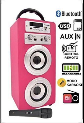 altavoz de bluetooth karaoke