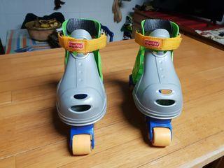 patines de niños fisher-price a partir de 3 o 4 añ