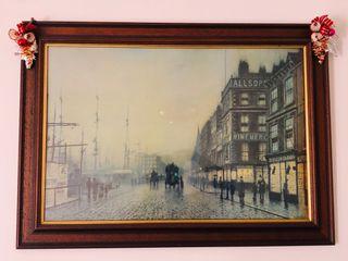 Atkinson Grimshaw Liverpool Docks Print In Frame