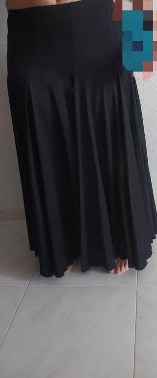 Falda de Ensayo Flamenco negra
