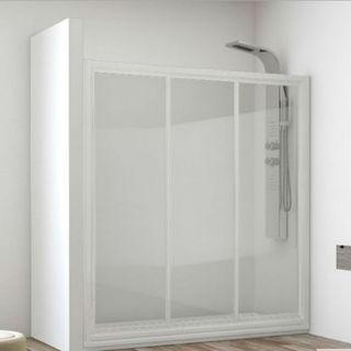 Mampara ducha 3 puertas 120cm LIQUIDACION