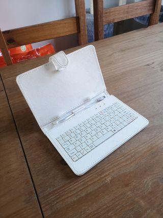 (vendo o cambio) funda con teclado para tablet
