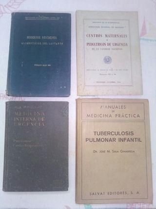Lote de libros antiguos de medicina