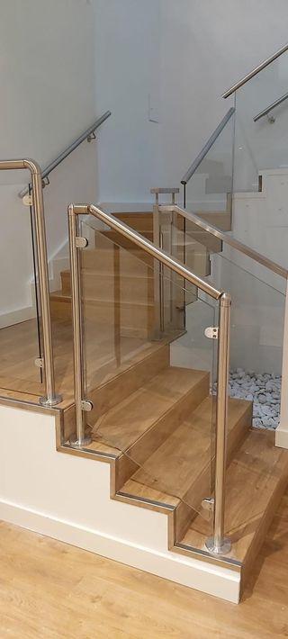 barandilla de barandilla pinza de poste de acero inoxidable pinza de vidrio de piscina soporte de suelo barandilla de barandilla para cristal de 10 a 12 mm escalera Valla de piscina de cristal