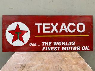 Cartel madera TEXACO