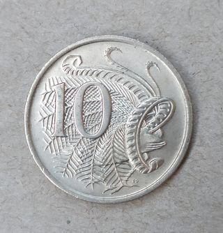 Moneda 10 céntimos Australia 1976