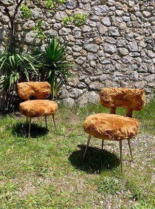Pareja sillas vintage Moumoute de Pelfran