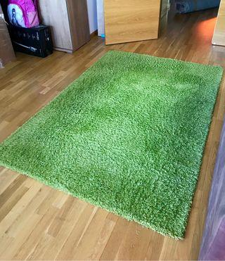 Alfombra verde 195x130cm