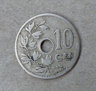 Moneda 10 céntimos Bélgica 1904