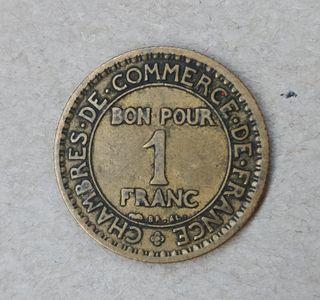 Moneda bono para 1 franco 1922
