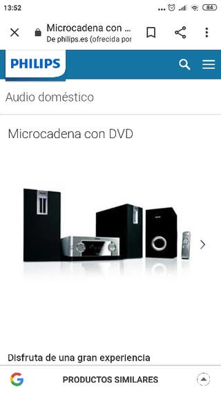 Home cinema-mini cadena Philips